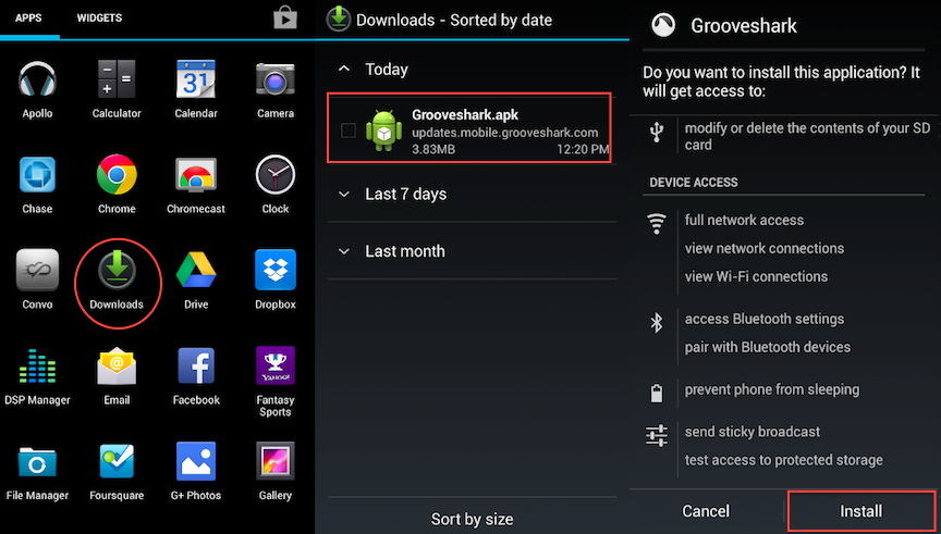 install apps from apk