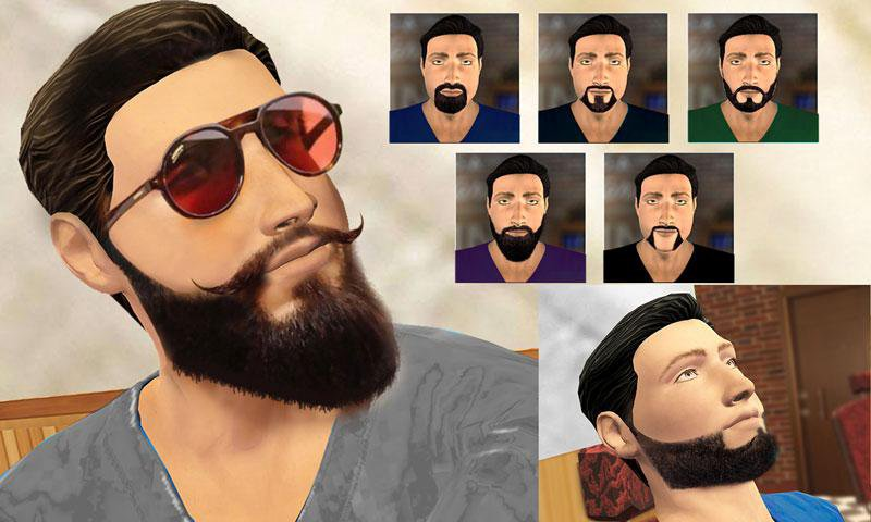 barber shop mustache and beard styles shaving game 5