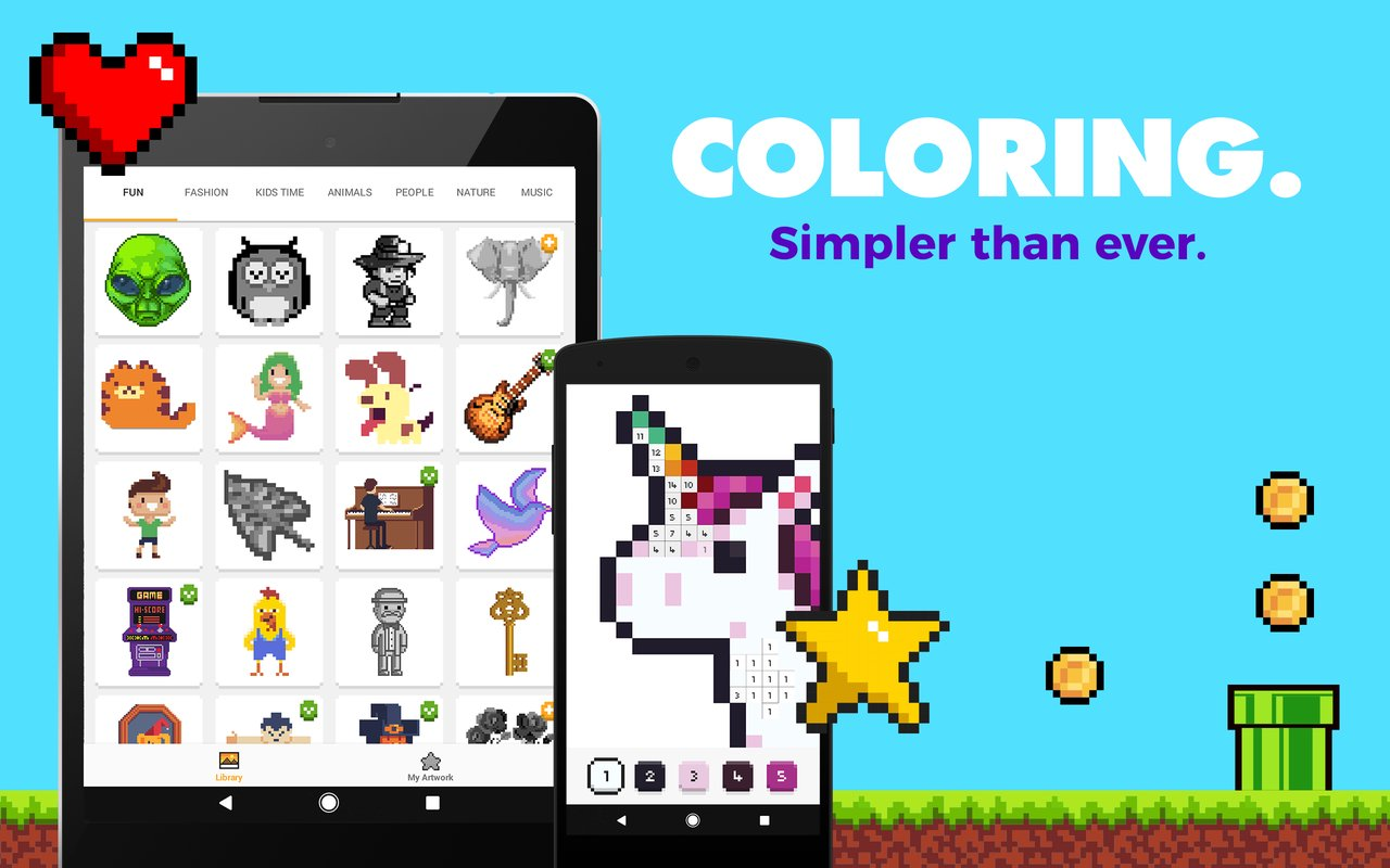 UNICORN Color by Number Pixel Art Game APK Download for Android/iOS