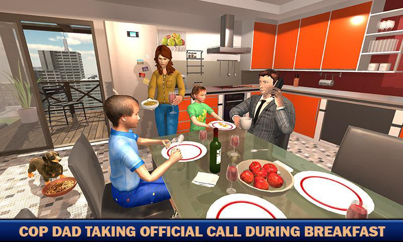 virtual families american dad police family games 1