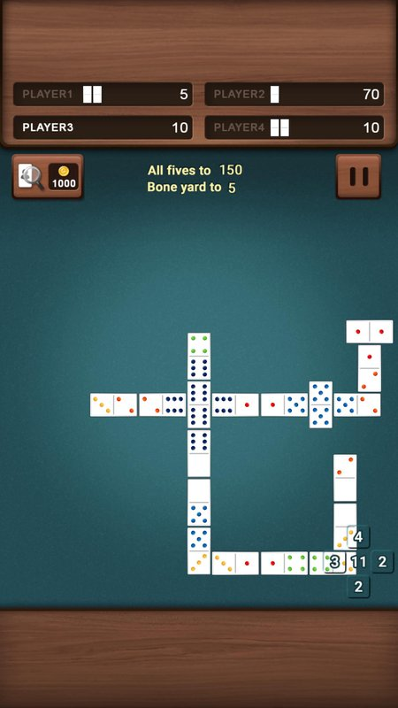 dominoes challenge 5