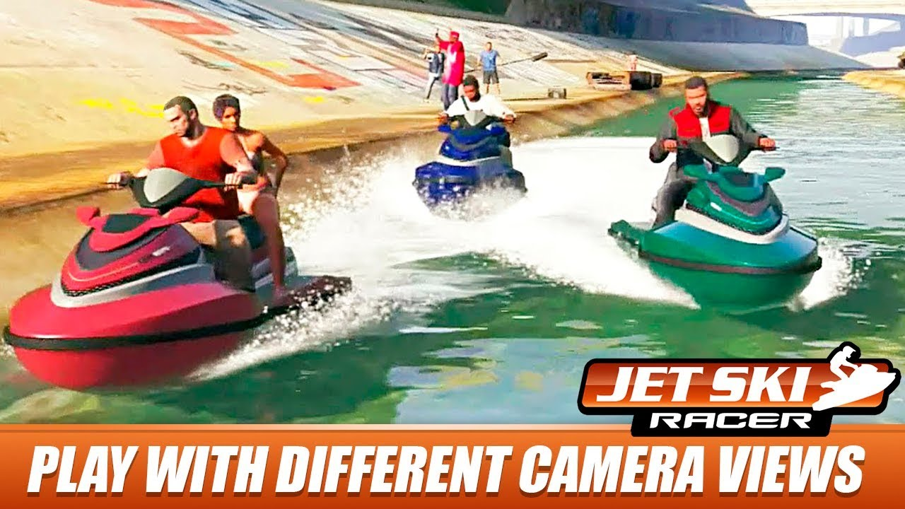speed boat jet ski racing